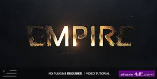 videohive empire logo reveal free after effects templates