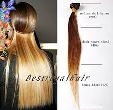 honey brown hair with blonde ombre amazon com bestroyalhair 18 clips medium dark brown to honey