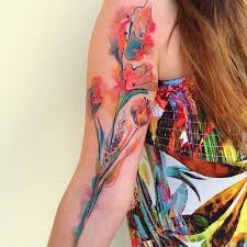 watercolor flowers best tattoo design ideas