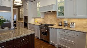 white kitchen cabinets travertine backslash tile kitchen new