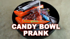 candy bowl prank please take one youtube