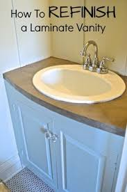 refinish bathroom sink top banish ugly laminate counters with one easy product laminate