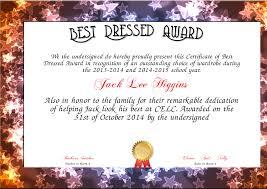 8 best images of best costume award certificate halloween best