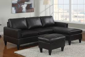 Small Leather Chair And Ottoman Small Black Faux Leather Sectional Sofa With Ottoman Lowest Price