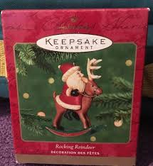 hallmark rocking reindeer 2001 santa claus tree ornament