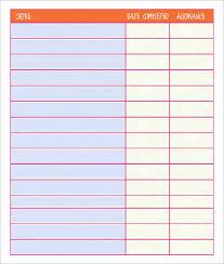Chore Sheet Template Chore Chart Template 6 Free Pdf Word Documents Free