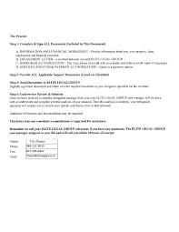 Attorney Engagement Letter by Elite Legal Group Consumer Complaint June 4 2013