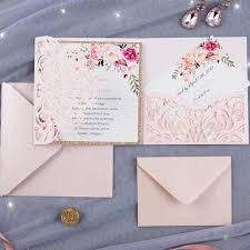 wedding pocket envelopes laser cut wedding invitations
