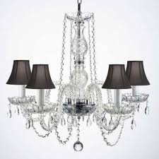 Black Chandelier With Shades Clear Candle Style Chandeliers Hanging Lights The Home Depot