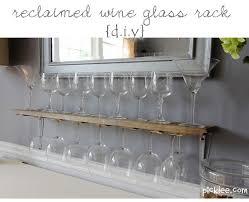 reclaimed wine glass rack diy picklee