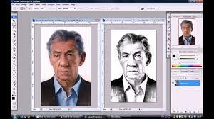 how to transform photos into pencil drawings adobe photoshop cs3