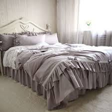 top european embroidery ruffle lace bedding set princess bedding