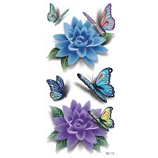 3d colorful butterfly waterproof sleeve diy stickers