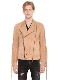 biker jacket men balmain shirts sale balmain fringed suede leather biker jacket