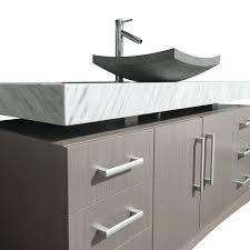 Oak Bathroom Vanity Cabinets by Monterrey 60 Inch Gray Oak Bathroom Vanity Sone Top