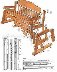 porch glider rocker plans