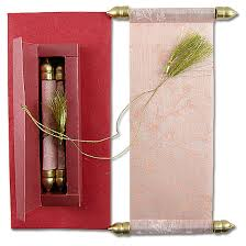 Scroll Wedding Cards Design With Price 9 Scroll Wedding Invitations Scroll Marriage Cards By Awc