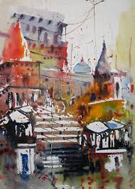 water colour painting on pantone canvas gallery