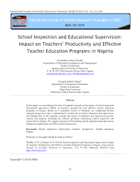 inspection and educational supervision teachers