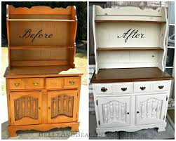 Painting Wood Furniture by Belle U0026 Beau Antiquarian Before U0026 After Painted Wood Hutch
