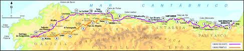 Camino De Santiago Map Fundraiser By Rebecca Hazard El Camino Del Norte Y Primitivo