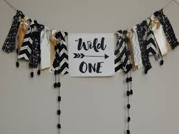 High Boy Chairs Wild One Birthday Banner Aztec Tribal Decor Boys Nursery Photo