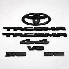 toyota logos 2016 2017 toyota tacoma black out emblem overlay kit nox lux