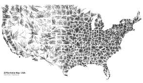 Map United State Of America by Zip Code Scribble Map Of The United States Of America Onepeggenius