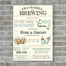 baby shower babies baby shower invitation two babies are brewing co ed baby