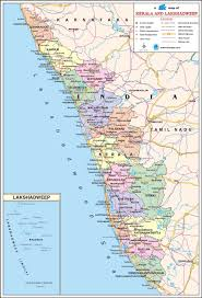 kerala travel map kerala state map with districts cities towns