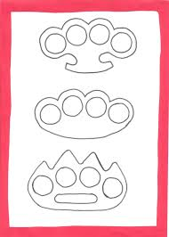 Printable Knife Templates Weaponcollector U0027s Knuckle Duster And Weapon Blog Brass Knuckles