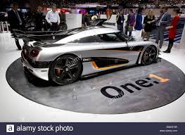 koenigsegg switzerland 84th geneva international motorshow koenigsegg one 1 stock photo