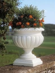 vaso resina bianco fioriera etrusca in resina vasi in resina e in plastica da