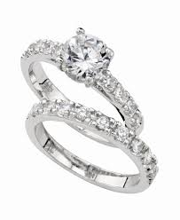 macy s wedding rings sets charter club ring set cubic zirconia engagement 3 ct t w