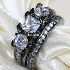 black gold wedding sets onyx engagement rings products on wanelo