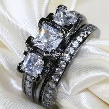 black gold wedding sets onyx engagement rings products on wanelo