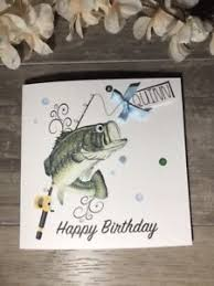 fishing birthday card ebay
