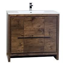 Bathroom Vanities 36 Inches Buy Cbi Enna 36 Inch Rosewood Modern Bathroom Vanity Tn La900 Rw