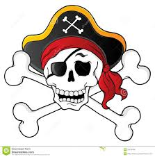pirate skull theme 1 royalty free stock image image 24619766