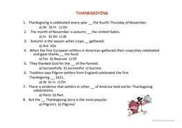 17 free esl thanksgiving powerpoint presentations exercises