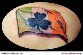american and irish shamrock tattoo on back shoulder in 2017 real