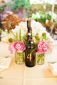 jars centerpieces wine bottle and mason jar centerpieces flowers