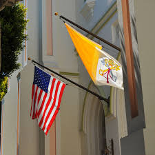 Christian Banner Flags File Usa And Vatican Flag Jpg Wikimedia Commons