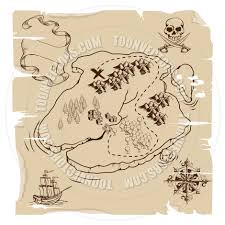 Old Treasure Map Old Pirate Treasure Map By Geoimages Toon Vectors Eps 35418