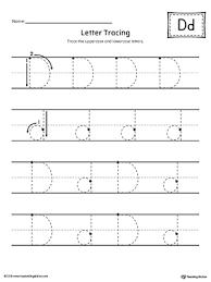 printable letter tracing worksheets letter d tracing printable worksheet myteachingstation com
