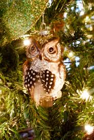woodland themed ornaments glass owl living with color