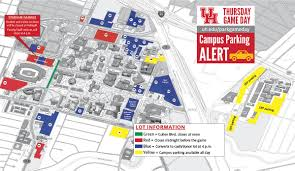 campus parking on game day university of houston