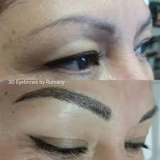 microblading eyebrow over existing tattoo eyebrows by rumany not