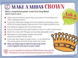 step by step king midas crown for our greek myth in storytime