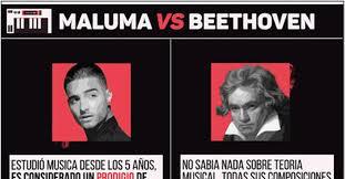 Beethoven Meme - cuánto cabrón maluma es mejor que beethoven y aquí la razón